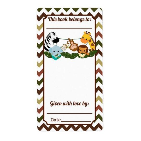 Jungle Buddies Bookplate Shipping Label