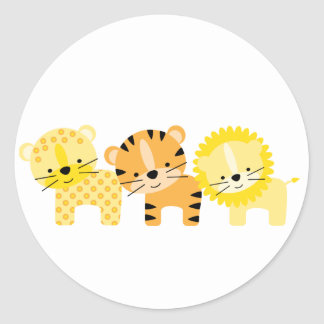 Jungle Cat Envelope Seals Round Sticker