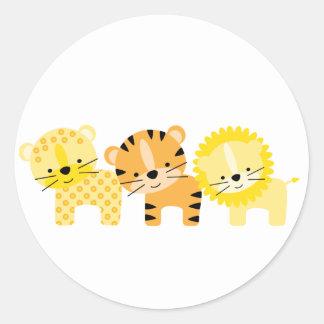 Jungle Cat Envelope Seals Round Sticker