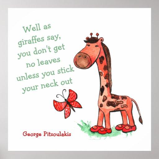 Jungle Diva Giraffe Quote Poster