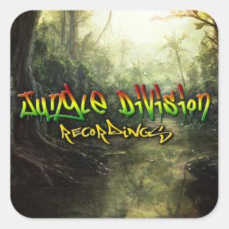 Jungle Division Recordings Square Sticker