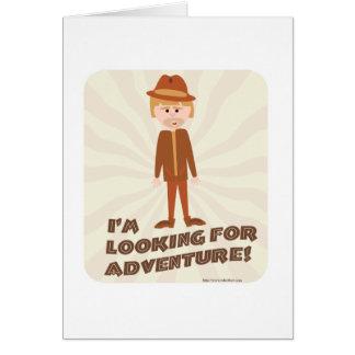 Jungle Explorer Adventure Boy Greeting Card