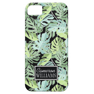 Jungle Floral Pattern | Add Your Name Barely There iPhone 5 Case