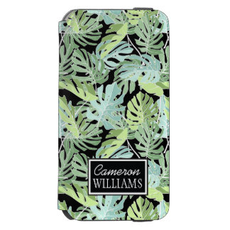 Jungle Floral Pattern | Add Your Name Incipio Watson™ iPhone 6 Wallet Case