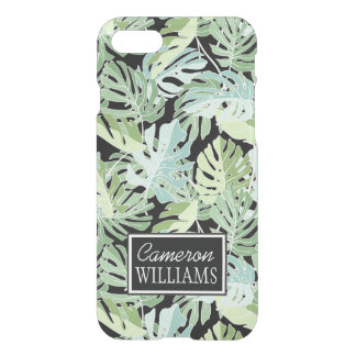 Jungle Floral Pattern   Add Your Name iPhone 7 Case