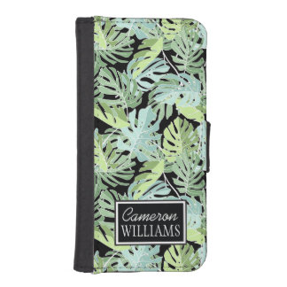 Jungle Floral Pattern | Add Your Name iPhone SE/5/5s Wallet Case