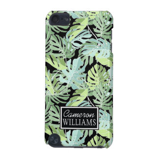 Jungle Floral Pattern   Add Your Name iPod Touch 5G Cover