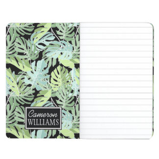 Jungle Floral Pattern | Add Your Name Journal