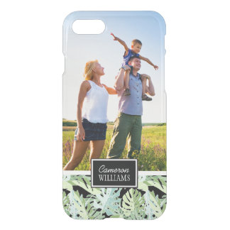 Jungle Floral Pattern | Add Your Photo & Name iPhone 8/7 Case