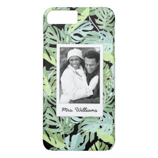 Jungle Floral Pattern | Add Your Photo & Name iPhone 8 Plus/7 Plus Case