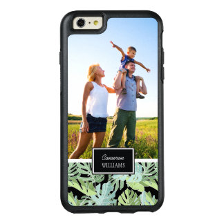 Jungle Floral Pattern | Add Your Photo & Name OtterBox iPhone 6/6s Plus Case