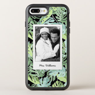 Jungle Floral Pattern | Add Your Photo & Name OtterBox Symmetry iPhone 7 Plus Case