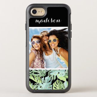 Jungle Floral Pattern   Add Your Photo & Name OtterBox Symmetry iPhone 8/7 Case