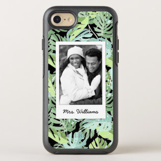 Jungle Floral Pattern | Add Your Photo & Name OtterBox Symmetry iPhone 8/7 Case