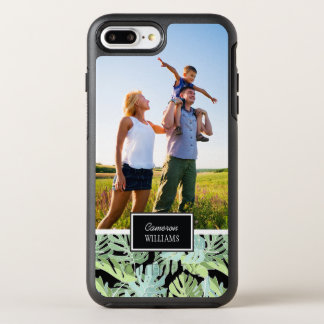 Jungle Floral Pattern | Add Your Photo & Name OtterBox Symmetry iPhone 8 Plus/7 Plus Case