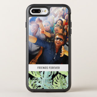Jungle Floral Pattern | Add Your Photo & Text OtterBox Symmetry iPhone 8 Plus/7 Plus Case