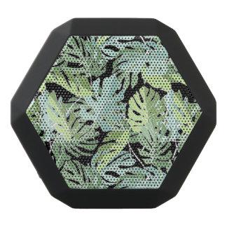 Jungle Floral Pattern Black Bluetooth Speaker