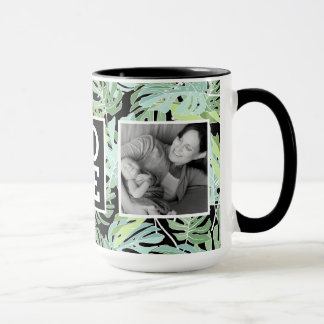 Jungle Floral Pattern | LOVE with Photos Mug