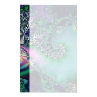 Jungle · Fractal Art · Purple & Teal Stationery