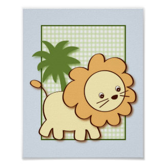 Jungle Friends Jungle Animal Wall Art Print