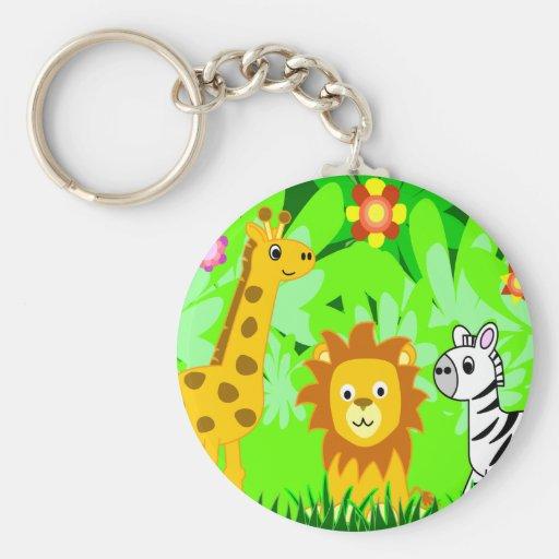 Jungle Friends Key Chains