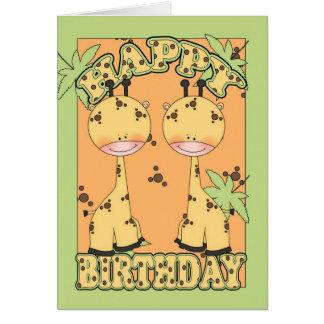 jungle fun giraffe birthday card
