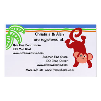 Jungle Fun Monkey Pack Of Standard Business Cards