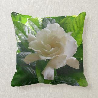 Jungle Gardenia Throw Pillow