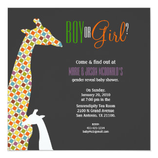 JUNGLE gender reveal BABY SHOWER invitation 1