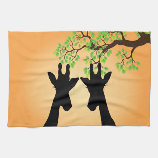 Jungle Giraffes Tea Towel