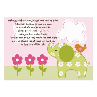 Jungle Girl/Jungle Jill Elephant Favor Tag/Card Pack Of Chubby Business Cards