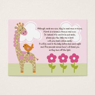Jungle Girl/Jungle Jill Giraffe Favor Tag/Card