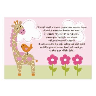 Jungle Girl/Jungle Jill Giraffe Favor Tag/Card Pack Of Chubby Business Cards