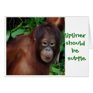 Jungle Girl Lipstick Beauty Advice Card