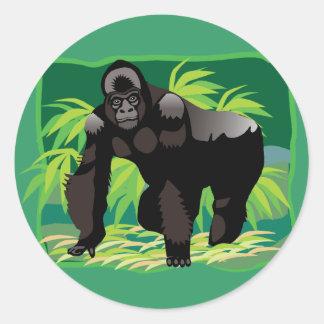 Jungle Gorilla Classic Round Sticker