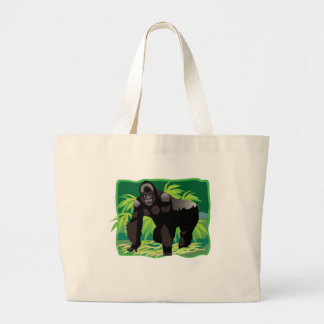 Jungle Gorilla Large Tote Bag