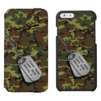 Jungle Green Camo w/ Dog Tags Incipio Watson™ iPhone 6 Wallet Case