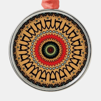 Jungle green pattern christmas ornament