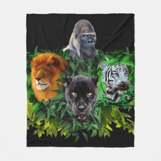JUNGLE GUARDIANS FLEECE BLANKET