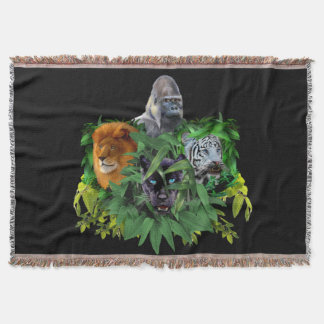 JUNGLE GUARDIANS THROW BLANKET
