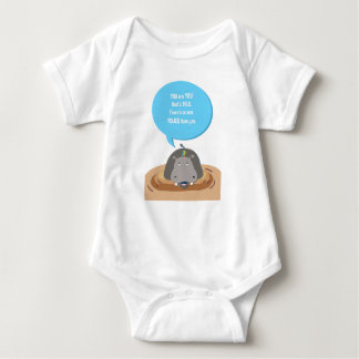 Jungle Hippo baby, inspirational quote jumpsuit