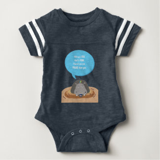 Jungle Hippo baby jumpsuit, You are You Baby Bodysuit