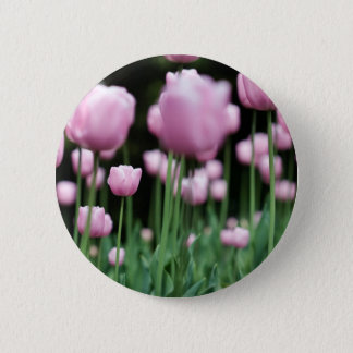 jungle in pink 6 cm round badge