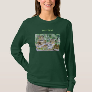 Jungle Jaguar Watercolor Fine Art T-Shirt