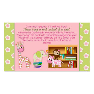 Jungle Jill Book Requests Instead of a Card 100pk Pack Of Standard Business Cards