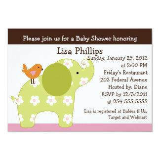 Jungle Jill Elephant Baby Shower Invitation