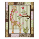 Jungle Jill Giraffe Baby Girl Nursery Art Poster