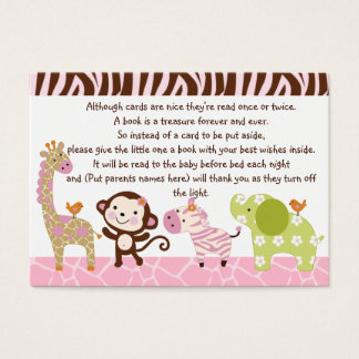 Jungle Jill/Girl Animals Favor/Tags Business Card