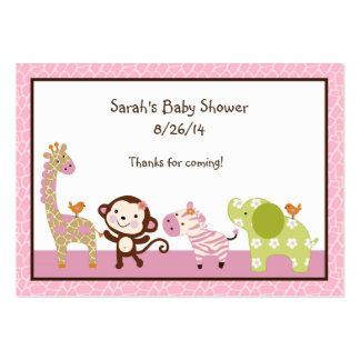 Jungle Jill/Girl Animals Favor/Tags Pack Of Chubby Business Cards