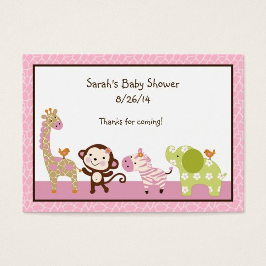 Jungle Jill/Girl Animals Favour/Tags Business Card